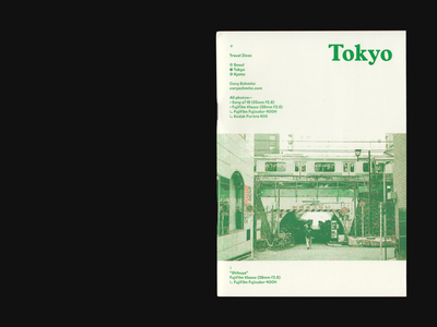 Travel Zines - Tokyo photography japan tokyo orange green risograph riso zine