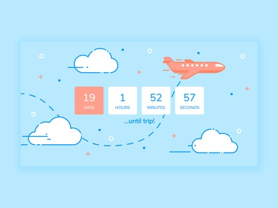Countdown Timer countdown timer illustration clouds air sky plane countdown timer