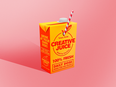 Want some CREATIVE JUICE? madebysanchez juice box orange logo orange juice creative