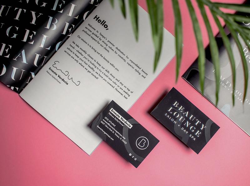 Beauty Lounge Salon and Spa   Brand Collateral print design collateral design icon logo identity design branding