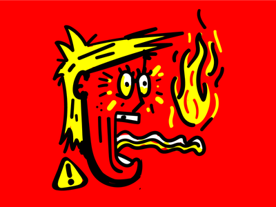 🔥Hey there, Hot Mouth caliente hot sauce trump illustration illustration