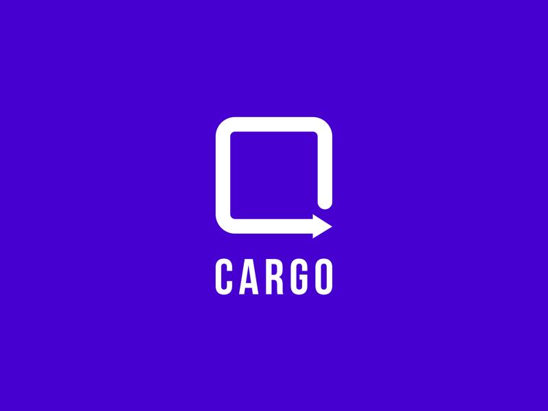 Cargo logo icon ui minimal art illustration vector flat design logo