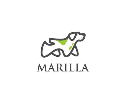 marilla logodesign animalhead animalpets line dog animal