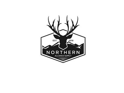 deer logodesign animalhead animalpets line roose deer animal