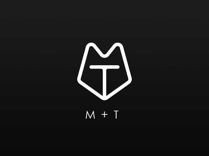 MT Logo black and white logo logo design branding mt logo