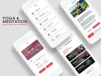 Yogo & Meditation android app android app design mudra fitness yoga meditation meditation app yoga app yoga pose fitness app uiux ui application uidesign