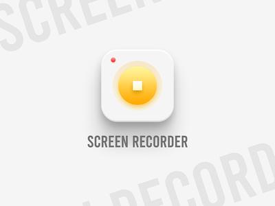 Screen Recorder app icon design dailyui app logo app icon ui design android app uidesign ui uiux logo design logodesign logo icon design icon record recording recorder screen recorder