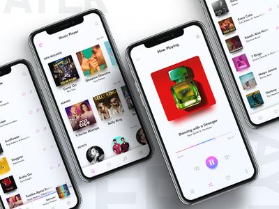Music Player music player app design ux design app design ui design ui ux music ui player ui ux kit music player ui ui kit music player