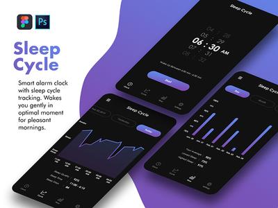 Sleep Cycle uikit app design uiux uidesign sleep cycle design sleep cycle app cycle sleep sleep cycle