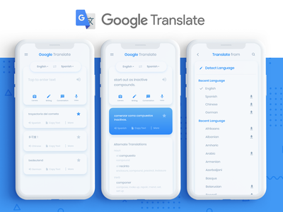 Google Translate Redesign ui kit ux ui uiux ui design uidesign google translate redesign translate google