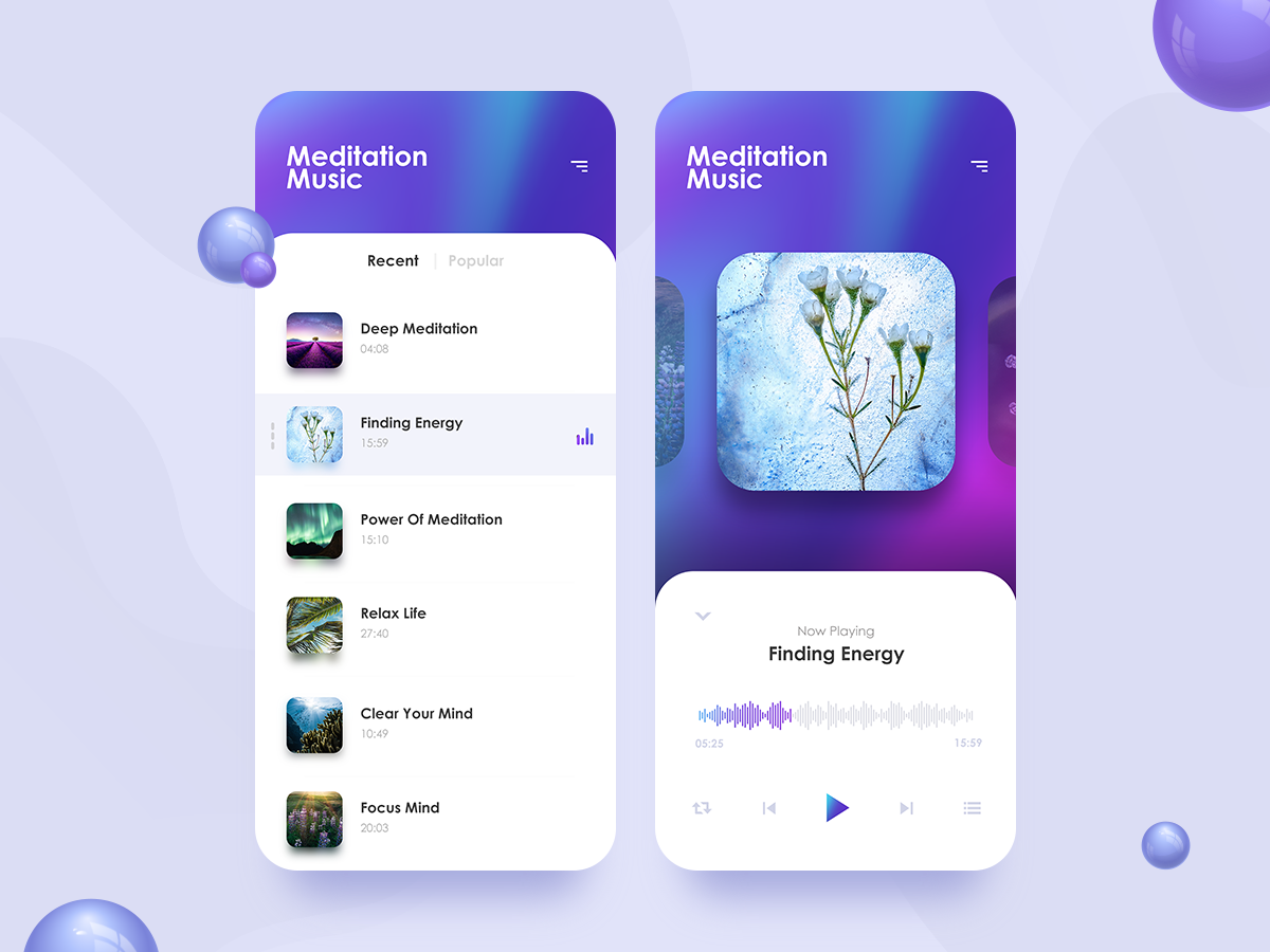Meditation App meditation app challenge music app challenge app challenge music soul music app meditation kit meditation app meditation uikit uidesign challenges