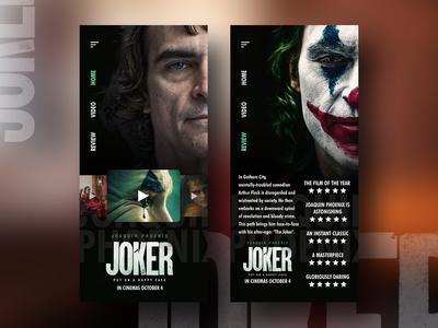 Joker Movie 2019 ui design app design uxdesign uidesign review movie joker