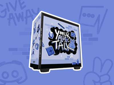 Your Place to Talk NZXT Wrap gaming social media graffiti illustration pc gaming design discord