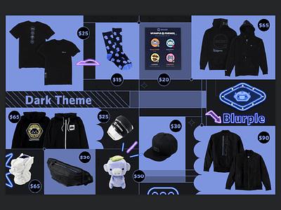 Discord Pop-Up Merch: Dark Theme Collection gaming merch design merch design discord