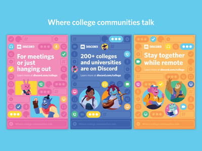 Discord College Campus Prints campus college design discord yard sign