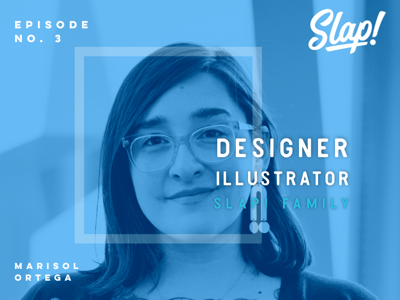 CenterStage | Episode No. 3 subscription illustration startup typography ui design art artist roster headshot slap stickers blue branding brand highlight slaptastick family designer illustrator