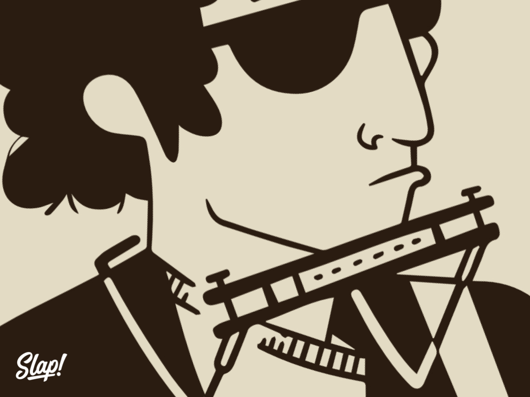 A Music Icon Was Slapped! vector music headshot typography slap artist designer illustrate stickermule sticker subscription art illustrations startup brand illustrator design stickers slaptastick illustration