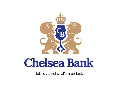 Chelsea Bank logodesign logotype illustration illustrator branding and identity bank logo banking corporate branding corporate identity corporate design branding identity branding design logo typography logo design design branding