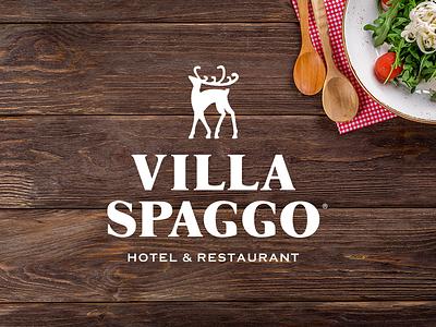 Villa Spaggo restaurant design menu design restaurant branding hotel branding food and drink logotype illustration branding identity branding design typography branding design logo logo design