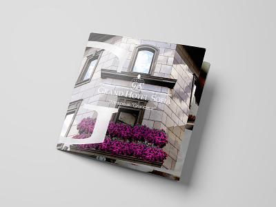 Grand Hotel Sofia point of sale brochure brochure mockup brochure design branding design branding design