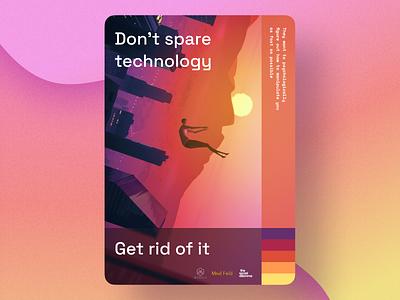 Poster design – Technology illustration graphic design design mosaic game poster red orange yellow pink sunset