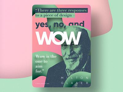 Poster design – Milton Glaser vector poster graphic design illustration pink green light bright design milton glaser