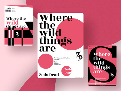 Poster design – Where the wild things are vector illustration posters poster red pink graphic design design