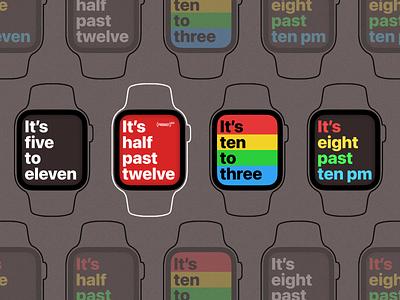 Watch face design – Apple Watch series 6 apple graphic design design black grey red rainbow pride apple watch clock watch