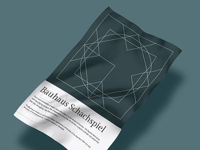 Poster design – Bauhaus-Schachspiel chess illustration design graphic design bauhaus olive green poster
