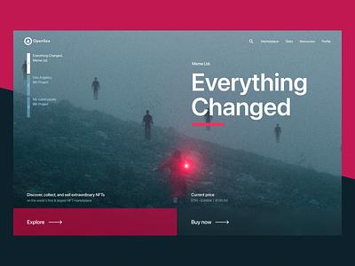 Website design – OpenSea NFT marketplace ux graphic design ui nft design web website