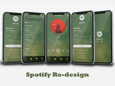 Spotify Re-design