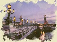 paris watercolor effect