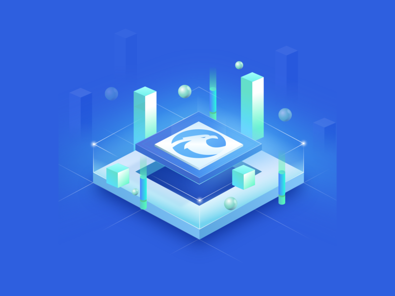 Software opening screen illustration data icon ui app design app website work art design