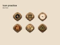 Retro feelings icon