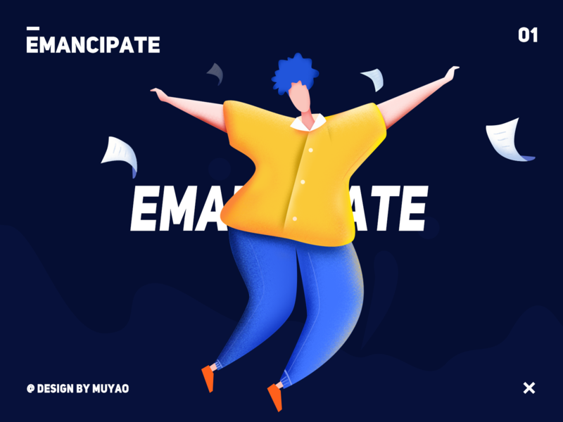 emancipate educational art illustration ui design