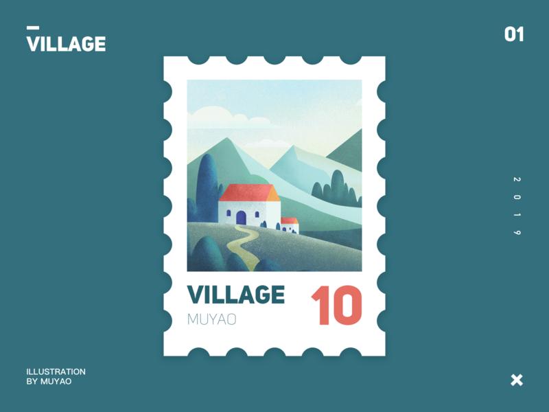 village illustration village ui design