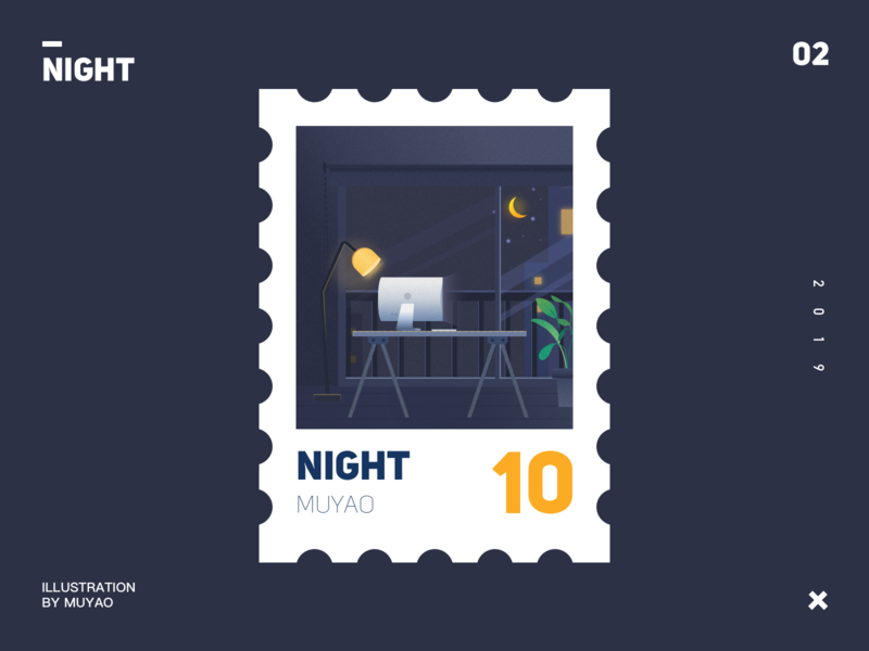night design ui illustration