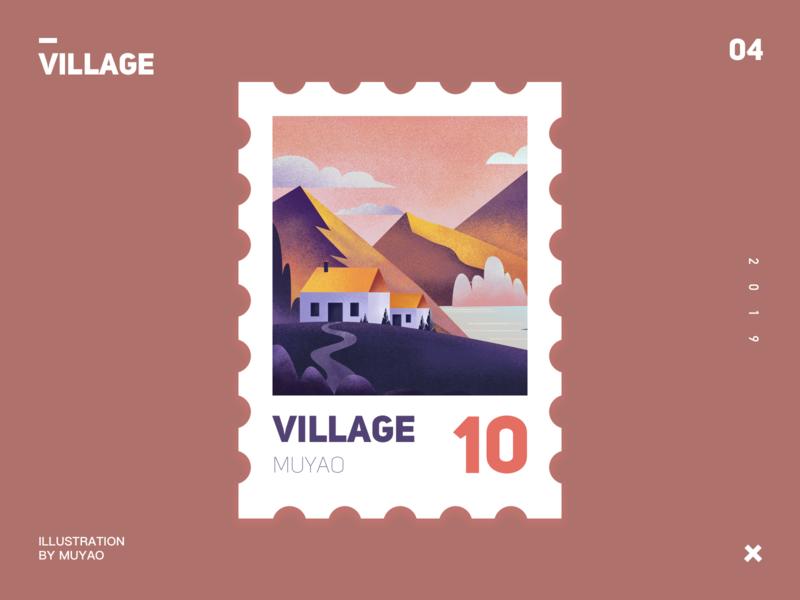 village-2 village ui design illustration
