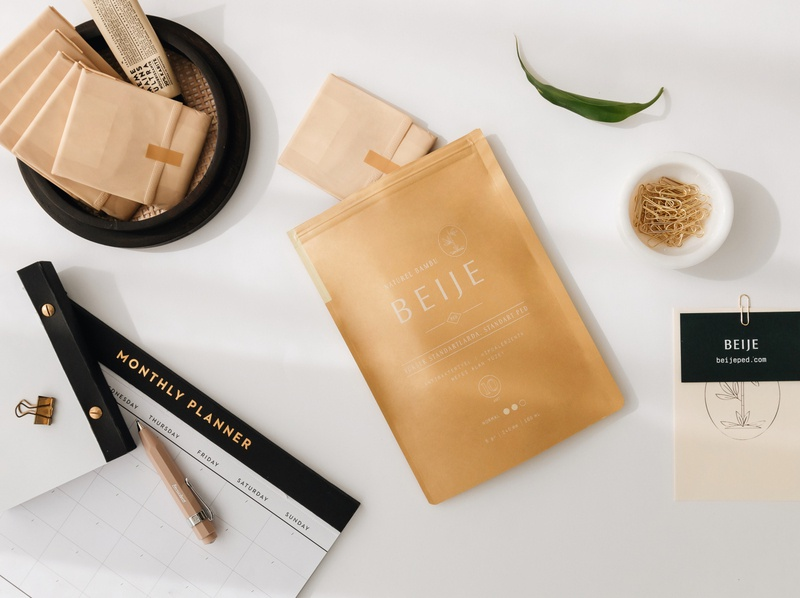 Beije branding logo design typography packaging
