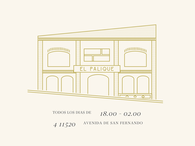 El Palique vector art design typography illustration