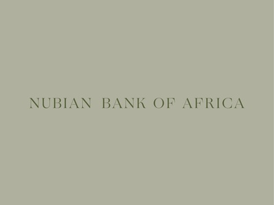 Nubian Bank of Africa vector label branding design typography logo