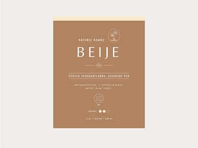 Beije - Label Design logo vector branding packaging label design typography