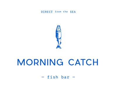 Morning Catch label branding color logo design illustration typography
