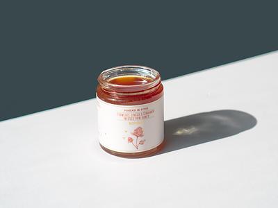 Makabi & Sons honey illustration packaging label