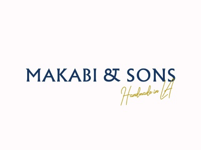 Makabi & Sons logotype vector packaging branding color design typography