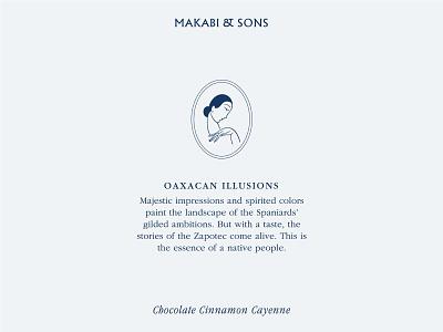 Oaxacan Illusions / Makabi&Sons minimal women snack biscuits spanish logo typography branding packaging illustration design