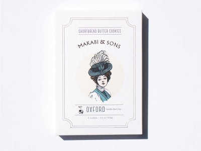 Oxford - Makabi&Sons vintage women golf logo art label design typography branding packaging illustration