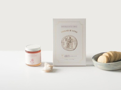 Makabi&Sons design logo typography illustration biscuits losangeles branding packaging