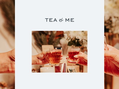 Tea&Me minimal tea packaging branding design typography logo