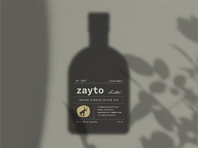 Zayto Olive Oil label design bottle label gold oliveoil olive color logo branding typography packaging